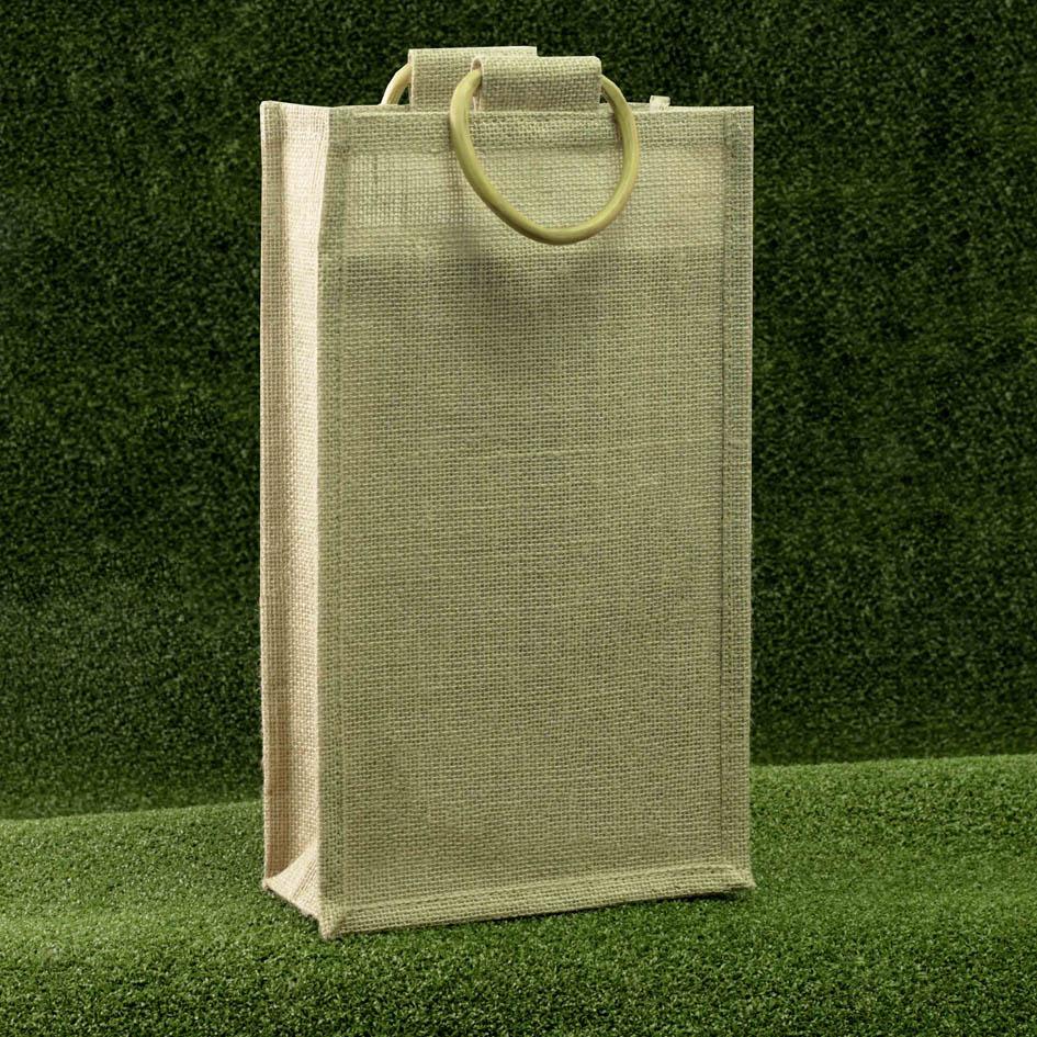 jutetragetaschen f r zwei flaschen rocaba verpackung. Black Bedroom Furniture Sets. Home Design Ideas