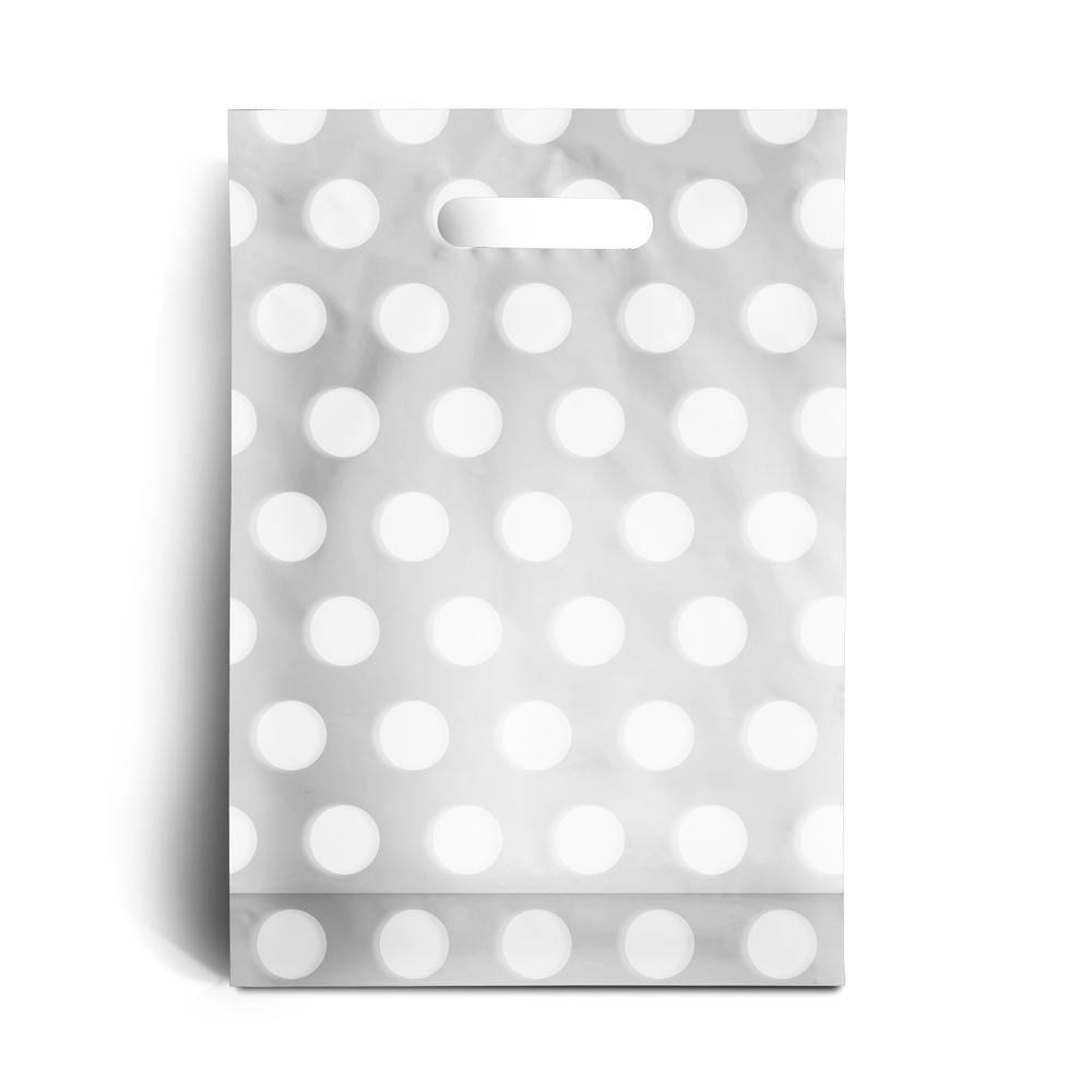 plastikt ten mit p nktchen weiss wei rocaba verpackung. Black Bedroom Furniture Sets. Home Design Ideas