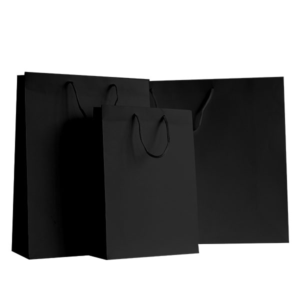 exklusive papiertragetaschen schwarz matt rocaba verpackung. Black Bedroom Furniture Sets. Home Design Ideas
