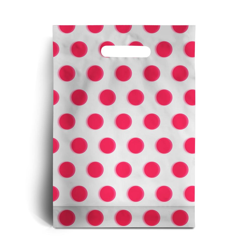 plastikt ten mit p nktchen weiss rosa rocaba verpackung. Black Bedroom Furniture Sets. Home Design Ideas