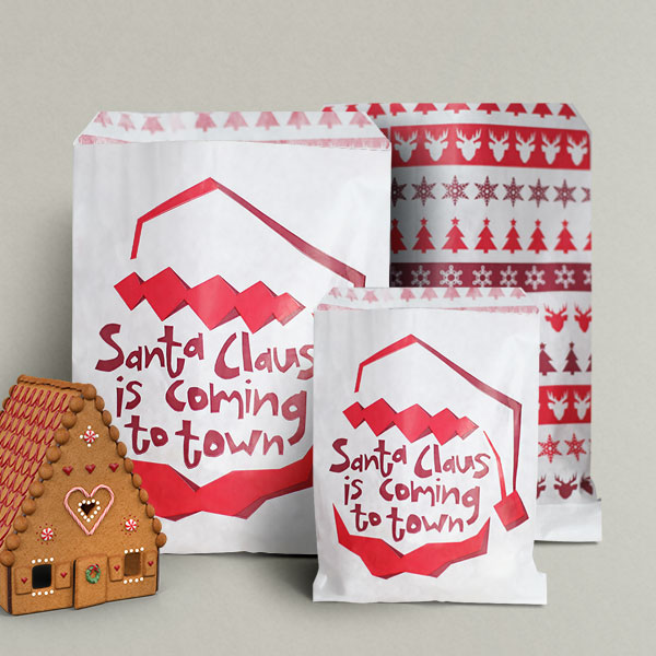 papiert ten mit dem santa claus is coming design rocaba verpackung. Black Bedroom Furniture Sets. Home Design Ideas